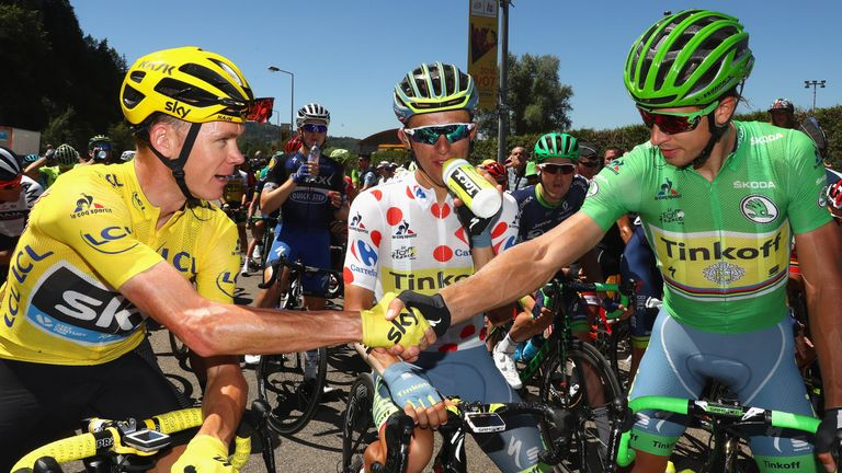 Peter Sagan (right) has dominated the green jersey competition in recent years