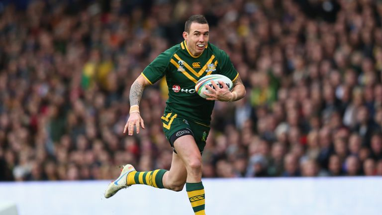 Darius Boyd runs with the ball during the 2013 World Cup final at Old Trafford