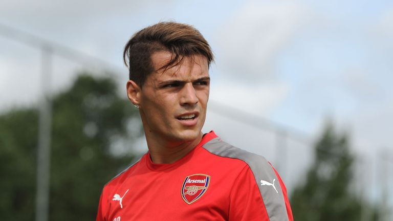 Granit Xhaka could make his Arsenal debut against Liverpool