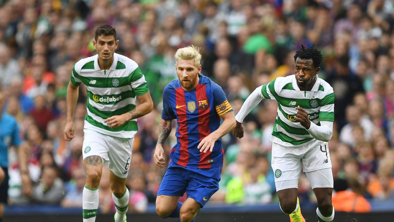 Bitton (left) in line to return for Celtic on Wednesday evening