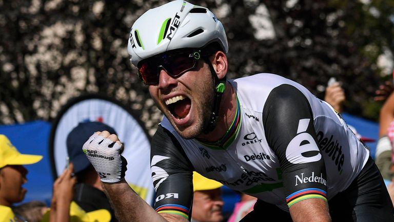 Mark Cavendish is now second on the all-time list of Tour de France stage winners