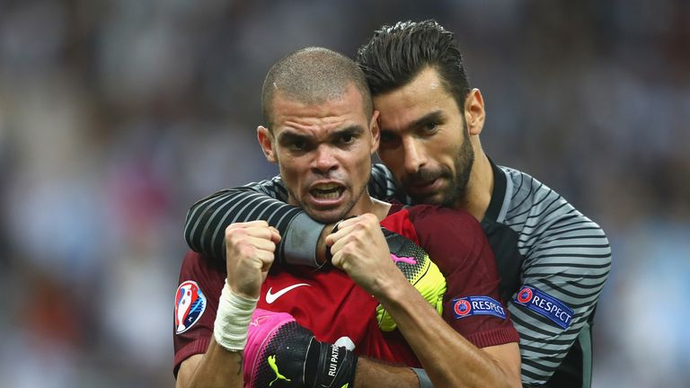 Pepe returned to Portugal's starting XI in the final after overcoming a thigh injury