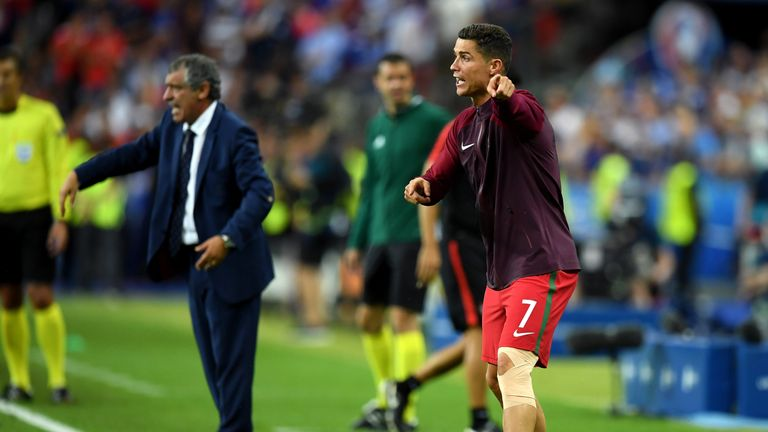 Mourinho criticised Ronaldo for his conduct on the sidelines after he had to come off during the Euro 2016 final between Portugal and France