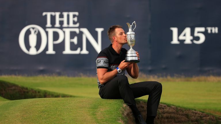 Henrik Stenson claimed a first major title at Royal Troon