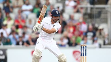 MANCHESTER, ENGLAND - JULY 24:  Alastair Cook of England bats during day three of the 2nd Investec Test between England and Pakistan at Old Trafford on Jul