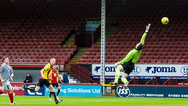 Partick Thistle's Chris Erskine scores their opening goal