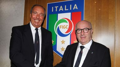 New Italy head coach Giampiero Ventura (left) has been tasked with leading the 2018 World Cup qualification campaign