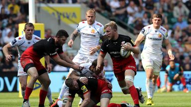 Jackson Wray (with ball) believes that recent success is just the start for Saracens