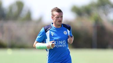 Jamie Vardy says he is happy with his decision to turn down Arsenal to remain with Leicester