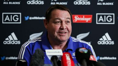New Zealand head coach Steve Hansen will be in charge of the team at the World Cup in Japan in 2019