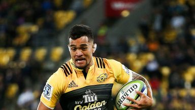 Vaea Fifita on the charge for the Hurricanes