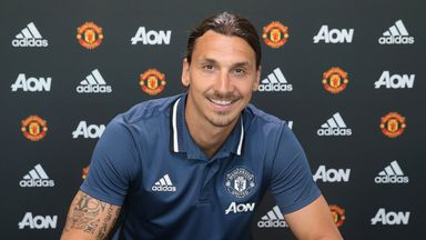 Zlatan Ibrahimovic signs for Manchester United