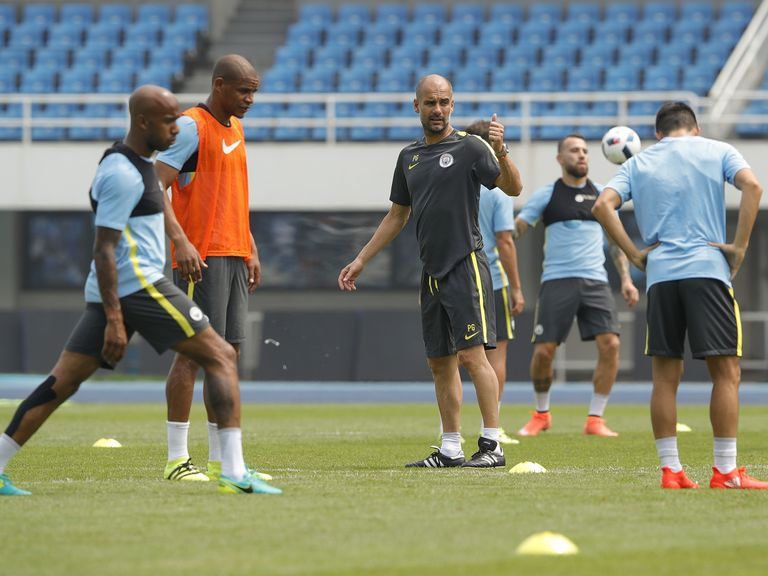 Guardiola: Nasri yet to play in pre-season because of weight