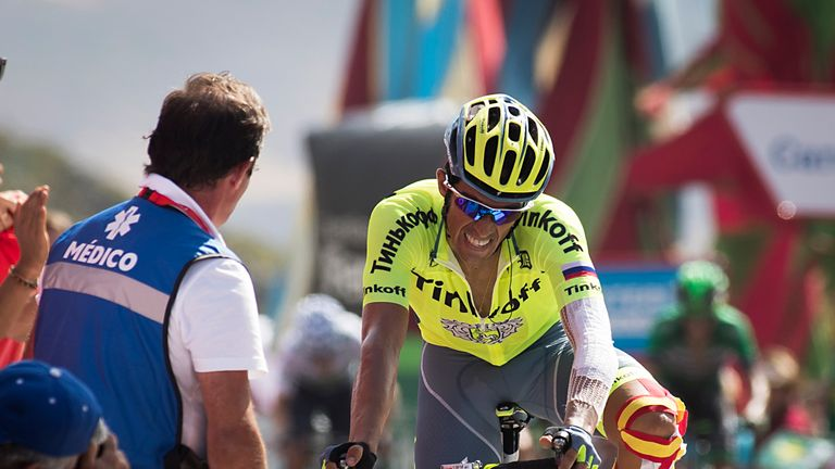 Alberto Contador is appearing in his last race for Tinkoff