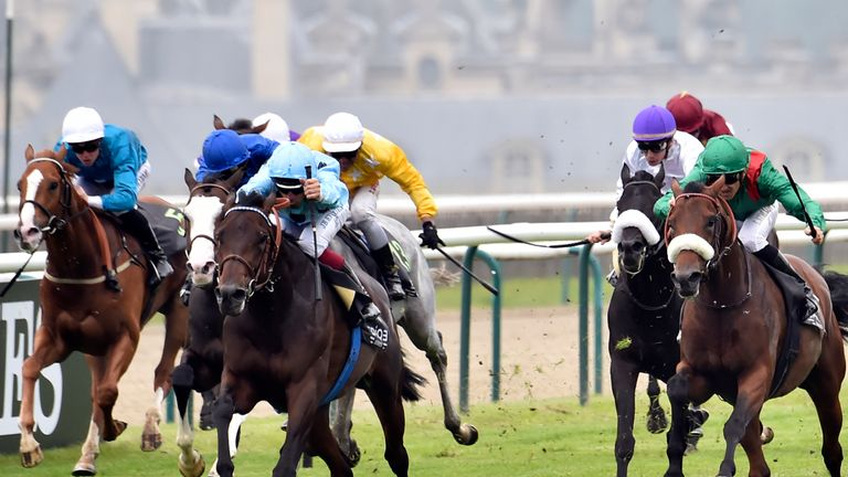 Zarak (right) won the French feature on Sunday