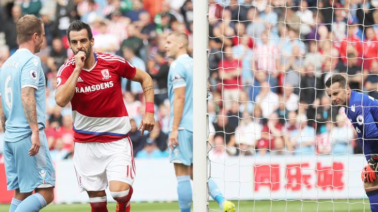 Middlesbrough striker Alvaro Negredo is looking for his first goal since the opening day of the Premier League season