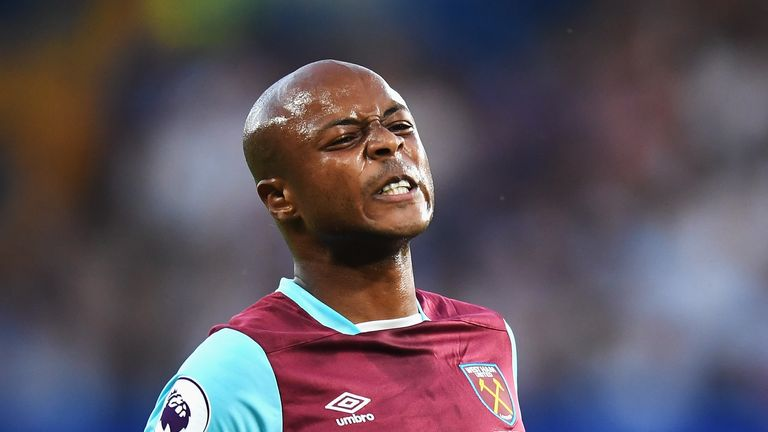 Andre Ayew is spending a quarter of his time in the south of France as he recovers from a thigh injury