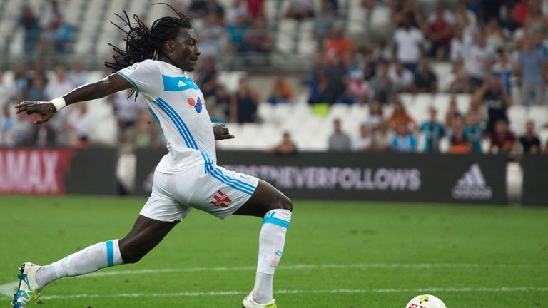 Swansea loanee Bafetimbi Gomis was also on target for Marseille during their Ligue 1 win