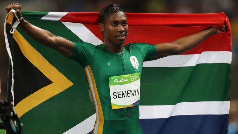 South Africa's Caster Semenya is on the women's top 10