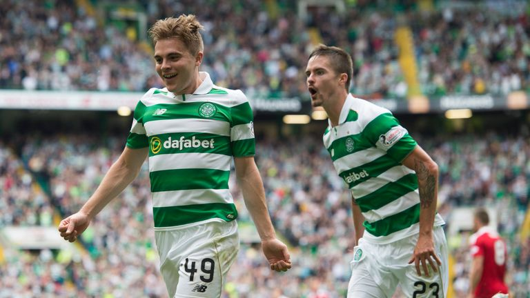 James Forrest finally beat Alloa goalkeeper Neil Parry with a left-footed strike