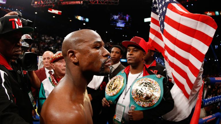Floyd Mayweather Jr last fought in May 2015 when he defeated  Andre Berto to match Rocky Marciano's perfect record of 49-0