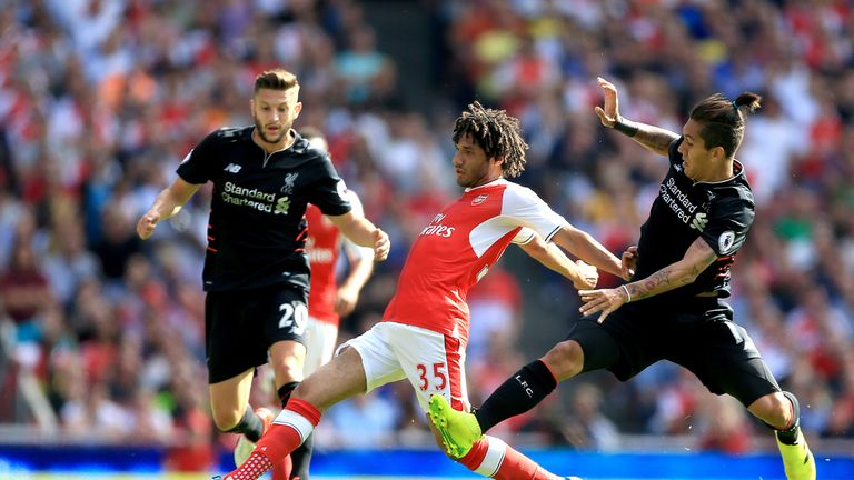 Charlie Nicholas expects Mohamed Elneny (C) to return for the Gunners