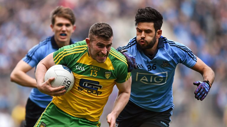 Donegal's Patrick McBrearty, in action against Dublin last year