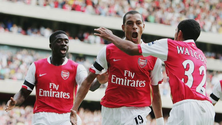 Gilberto Silva scored Arsenal's first Premier League goal at the Emirates Stadium