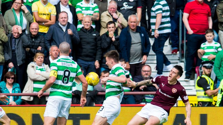 Walker as retrospectively banned for two matches after diving in Hearts defeat to Celtic