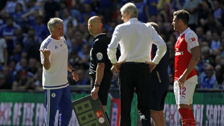 Wenger's only win over Mourinho came in the 2015 Community Shield