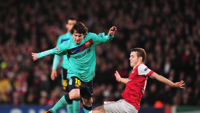 Wilshere looked right at home against the best when he faced Barcelona in 2011