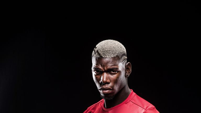 Manchester United's world-record signing Paul Pogba