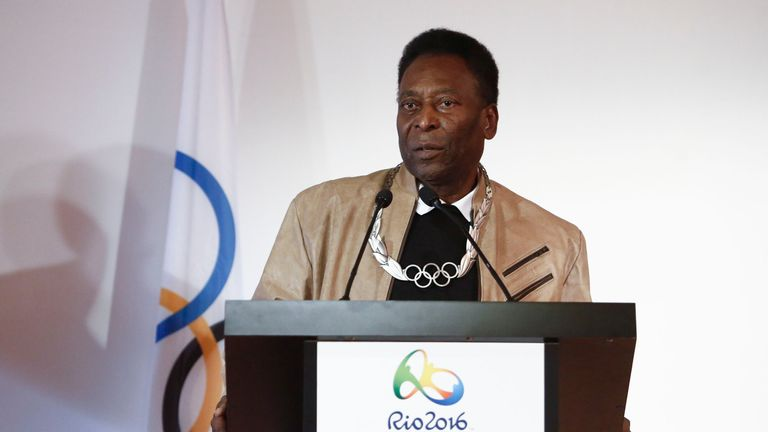 Pele led the tributes as Brazil declared three days of national mourning