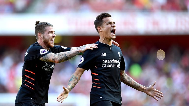 Philippe Coutinho (right) joined Liverpool three years ago from Serie A side Inter Milan
