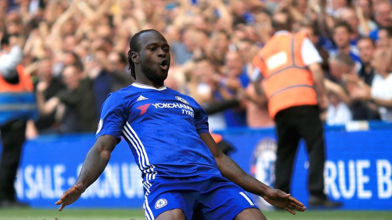 November winner Victor Moses has helped Chelsea to the top of the Premier League