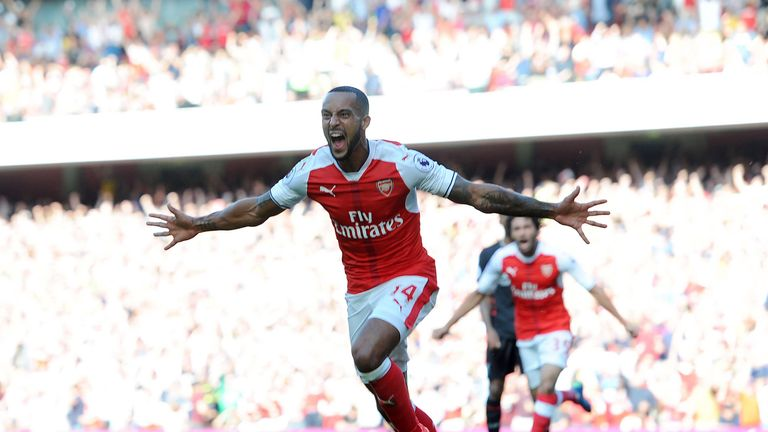 Theo Walcott had given Arsenal the lead
