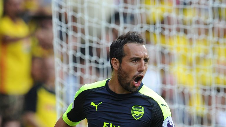 Santi Cazorla has scored 29 goals in 180 matches for Arsenal