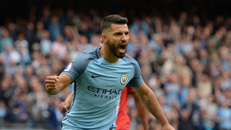 Image result for sergio aguero 2016-17