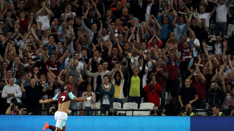 Feghouli only West Ham goal came against NK Domzale in the Europa League