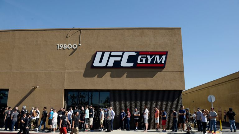 The UFC gym is situated in Torrance, California, in Diaz's home state