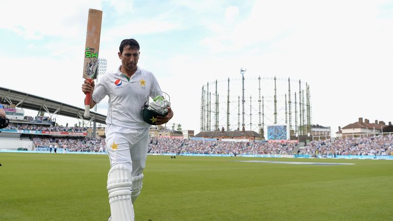 Younis Khan was in majestic form as he hit 218 at the Oval