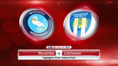Wycombe 0-2 Colchester