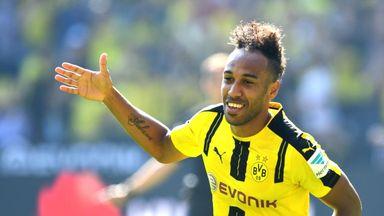 Pierre-Emerick Aubameyang scored twice in Borussia Dortmund's win