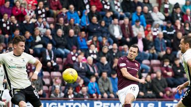 Don Cowie scores his first goal for Hearts against Inverness CT