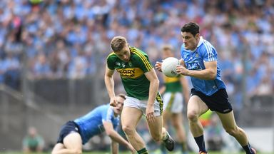 Diarmuid Connolly in action against Peter Crowley of Kerry