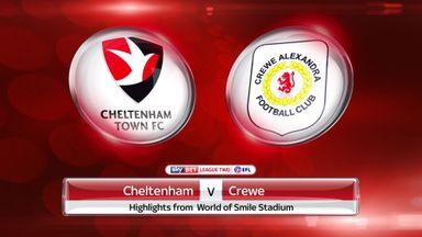 Cheltenham 2-0 Crewe