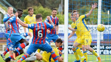 Josh Meekings pokes home the winner for Inverness CT against St Johnstone