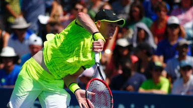 Kyle Edmund is into the second-round of the US Open