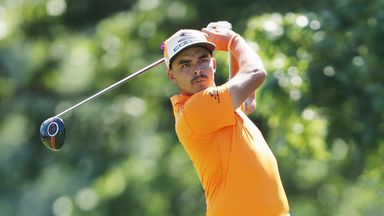 Rickie Fowler during the final round of The Barclays in the PGA Tour FedExCup Play-Offs