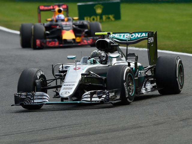 Nico Rosberg en route to victory at Spa